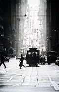 Fred Lyon:Cable Car Line, San Francisco, 1946.